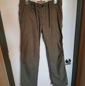 Express Olive Green Drawstring Cargo Style Pants